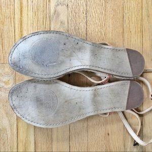 Max Studio Shoes - Max Studio Raffia Leather Flower Sandal, 9